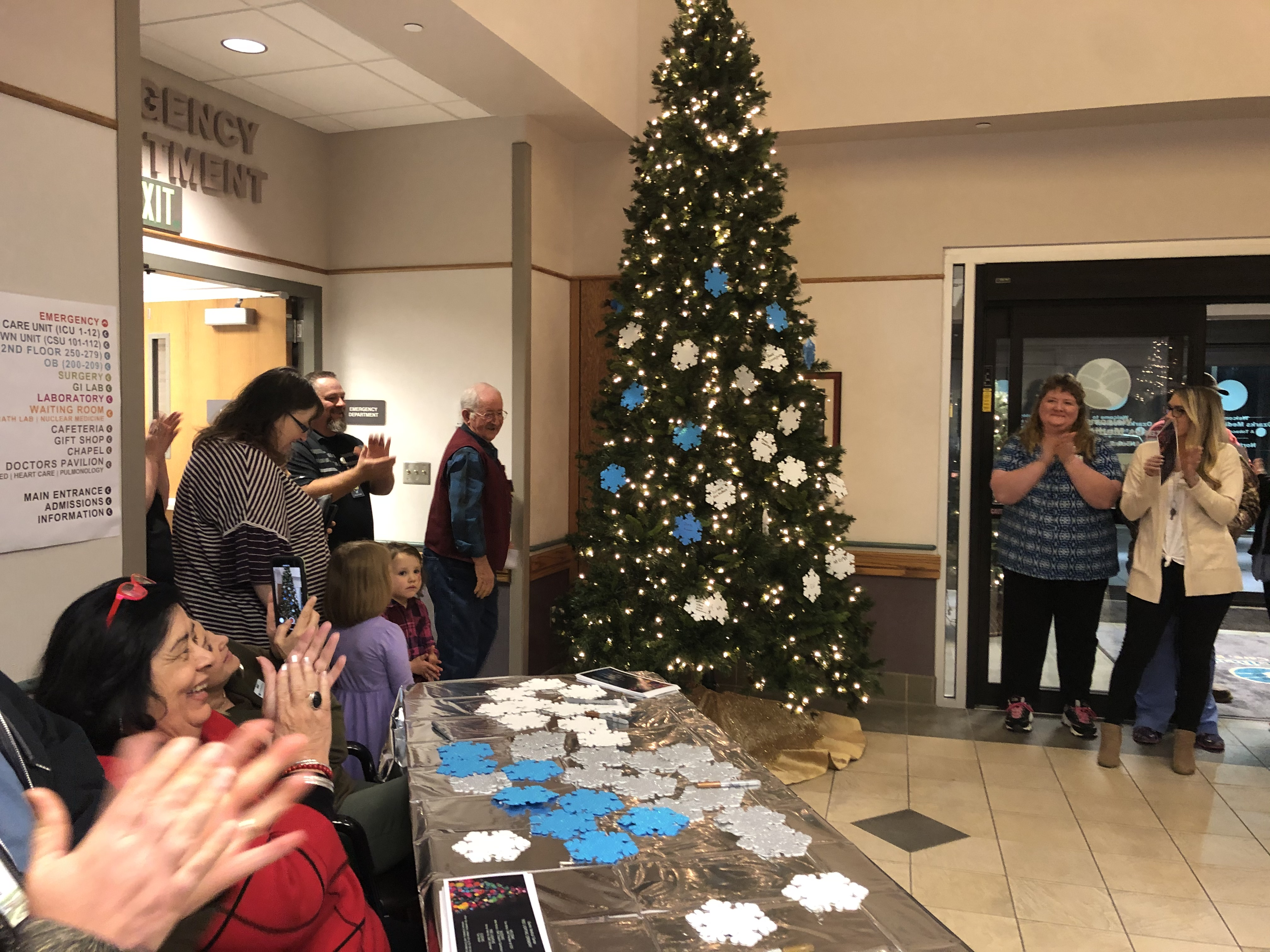 Picture of Tree Lighting in Hospital 2019