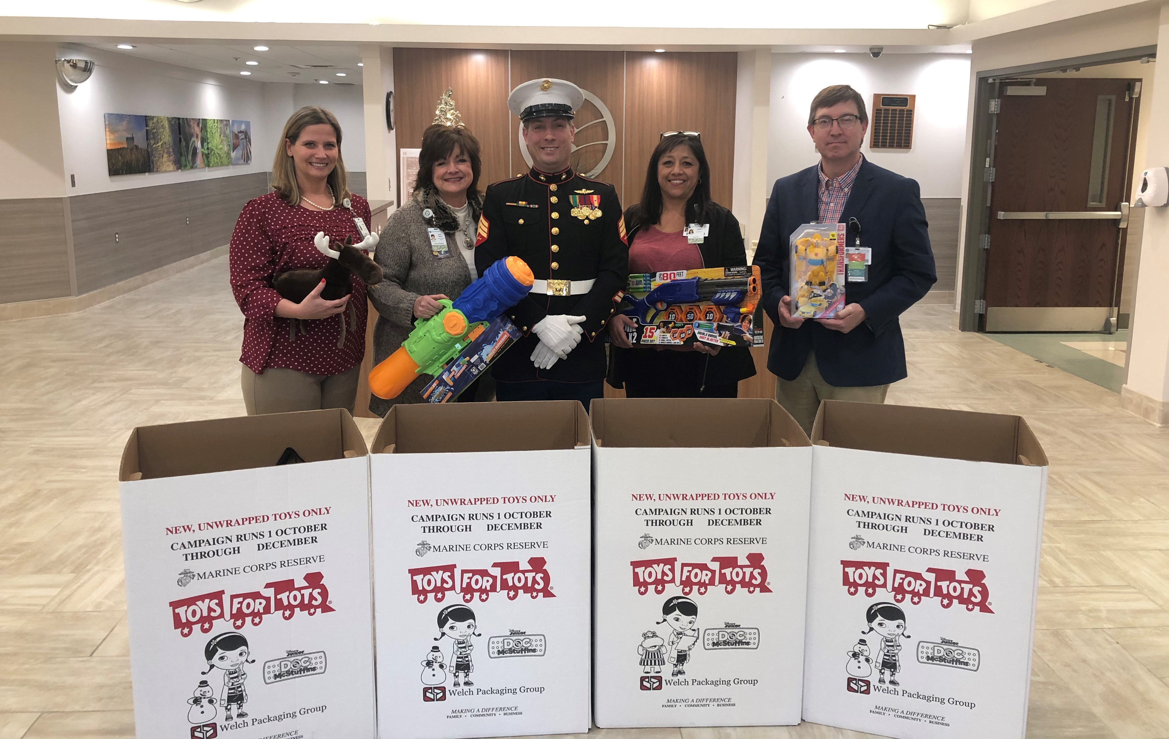 OMC Leaders with Christmas Toy Donations